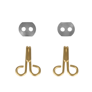 Brass Insulation Lacing Hook 304 S/S 2 Hole Lacing Hook